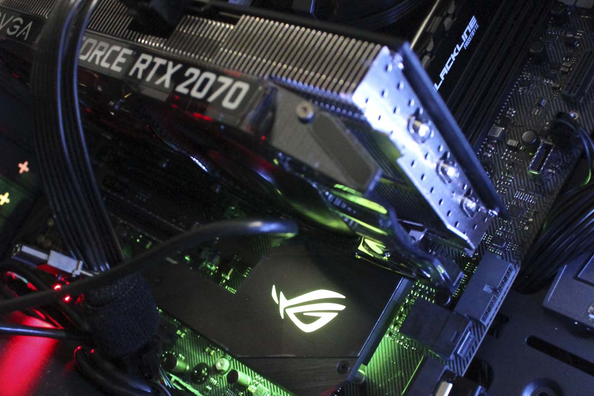 Nvidia EVGA RTX 2070, Asus Republic of gaming, Asus ROG, Pc Gamer colombia, PC gamer medellin, PC diseño, pc arquitectura, RGB, Cooler RGB
